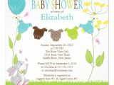"Cute Baby Shower Invitations for Boys Cute Clothesline Boy Baby Shower Invitations 5 25"" Square"
