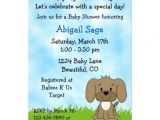 Cute Baby Shower Invitations for Boys Cute Puppy Baby Shower Invitation for Boys