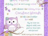 Cute Baby Shower Invite Wording Hoot Owls Baby Shower Invitation Sweet Little Birds