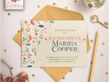 Cute Bachelorette Party Invites Cute Spring Flowers Bachelorette Party Invitations by