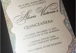 Cute Quinceanera Invitations Quinceanera Invitation Sweet 16 Invitation Glitter
