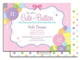 Cutest Baby Shower Invitations Cute as A button Baby Shower Invitation Cute Baby Shower