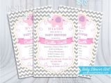 Cutest Baby Shower Invitations Ever Baby Shower Invitations Girl Elephant Pink Invitation Gray