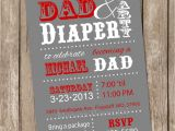 Daddy Baby Shower Invitations Dad Baby Shower Invitation Diaper Baby Shower Invitation Red
