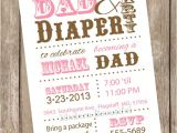 Daddy Baby Shower Invitations Dad Diaper Baby Shower Invitation Diaper Baby by