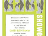 Daddy Baby Shower Invitations Daddy Baby Shower Baby Shower Invitations by Invitation