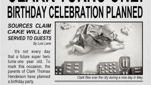 Daily Planet Birthday Invitation Template Clark Kent Birthday Party Design Dazzle