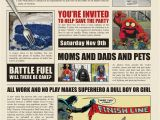 Daily Planet Birthday Invitation Template High Resolution Files Birthday Party themotherboards