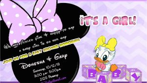 Daisy Duck Baby Shower Invitations Daisy Duck Baby Shower Invitation In Lavender and by