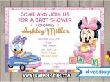Daisy Duck Baby Shower Invitations Minnie Mouse and Daisy Duck Custom Baby Shower Invitation