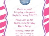 Dance Party Invitations Free 32 Best Images About Tybreshia 39 S Dance Party On Pinterest