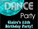 Dance Party Invitations Free 70 39 S and 80 39 S Disco Dance Birthday Party Invitations
