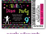 Dance Party Invitations Free Cupcake Cutiees Dance Party Invites and Printable Party Store