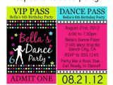 Dance Party Invitations Free Dance Party Vip Lanyard Badge Custom by Cupcakecutieesparty