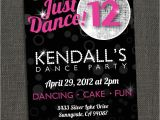 Dance Party Invitations Templates Dance Party Invitation Printable or Printed for You