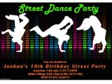 Dance Party Invitations Templates Dance Party Invitations