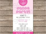Dance Party Invitations Templates Dance Party Ticket Invitations Template – Pink