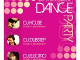 Dance Party Invitations Templates Pink Club Dj Dance Party Template Invitation 5 25