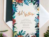 Dark Green Wedding Invitations 33 Impressive Tropical Wedding Stationary Ideas
