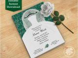 Dark Green Wedding Invitations Dark Green Bridal Shower Invitation Template Wedding