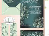 Dark Green Wedding Invitations Elegant Wedding Invitation In Shades Of Dark Green and Li
