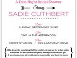 Date Night themed Bridal Shower Invitations Movie themed Date Night Bridal Shower Invitation