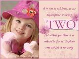 Daughter 2nd Birthday Invitation Wording 2 Years Old Birthday Invitations Wording