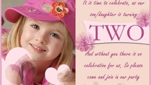 Daughter 2nd Birthday Invitation Wording 2 Years Old Birthday Invitations Wording