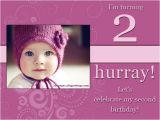 Daughter 2nd Birthday Invitation Wording 2nd Birthday Invitations and Wording 365greetings