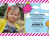Daughter 2nd Birthday Invitation Wording ashley S Green Life Avery S 2nd Birthday A Lorax Party