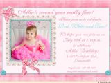 Daughter 2nd Birthday Invitation Wording Sweet & Special Girl S Party Invitation Cute Adorable