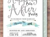 Day after Wedding Party Invitations Happily Ever after Invitation Boho Wedding Shower