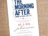 Day after Wedding Party Invitations the Morning after Wedding Brunch Invitation 5 by