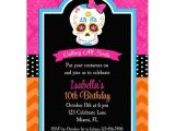 Day Of the Dead Party Invitation Template Day Of the Dead Invitation Skull Dia De Los Muertos