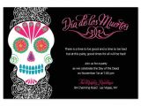 Day Of the Dead Party Invitation Template Day Of the Dead Party Invitations Cimvitation