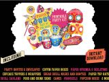 Day Of the Dead Party Invitation Template Day Of the Dead Printables Dia De Muertos Party Kit