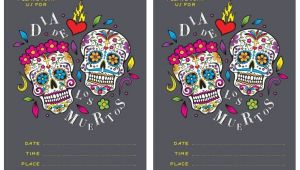 Day Of the Dead Party Invitation Template Free Dia De Los Muertos Invite Printable In 2019 Day Of
