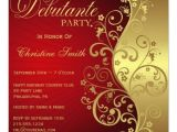 Debutante Party Invitations Personalized Debutante Invitations Custominvitations4u Com