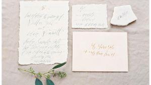 Deckle Edge Paper Wedding Invitations Wedding Invitation Suite On Deckle Edge Paper with Elegant