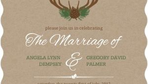 Deer Antler Wedding Invitations Rustic Deer Antlers Wedding Invitation Rustic Wedding