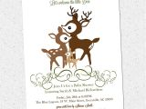 Deer Hunting Baby Shower Invitations Printable Deer Family Baby Shower Invitation Woodland