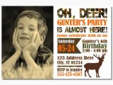 Deer Hunting Birthday Party Invitations Deer Hunting Birthday Invitation Camo by Puggyprints On Etsy