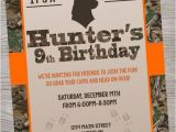 Deer Hunting Birthday Party Invitations Hunting Deer Camo Birthday Baby Shower Party Invitation