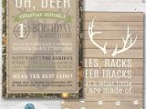 Deer Hunting Party Invitations Camo Deer Boy 39 S Birthday Party Invitation Deer Hunting
