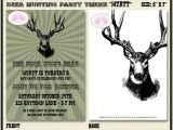 Deer Hunting Party Invitations Deer Hunting Birthday Party Invitation Buck Elk Hunting Boy