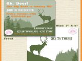 Deer Hunting Party Invitations Deer Hunting Birthday Party Invitation Buck Elk Hunting
