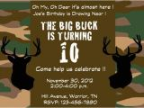 Deer Hunting Party Invitations Items Similar to Deer Hunting Camo Party Invitation On Etsy