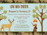 Deer Hunting Party Invitations Items Similar to Hunting Camo Deer Birthday Party