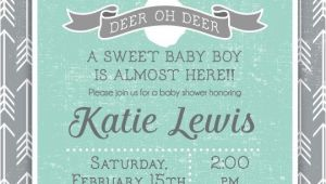 Deer themed Baby Shower Invitations 25 Best Ideas About Deer Baby Showers On Pinterest