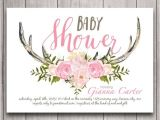 Deer themed Baby Shower Invitations Antler Baby Shower Invitation Digital Download Woodland